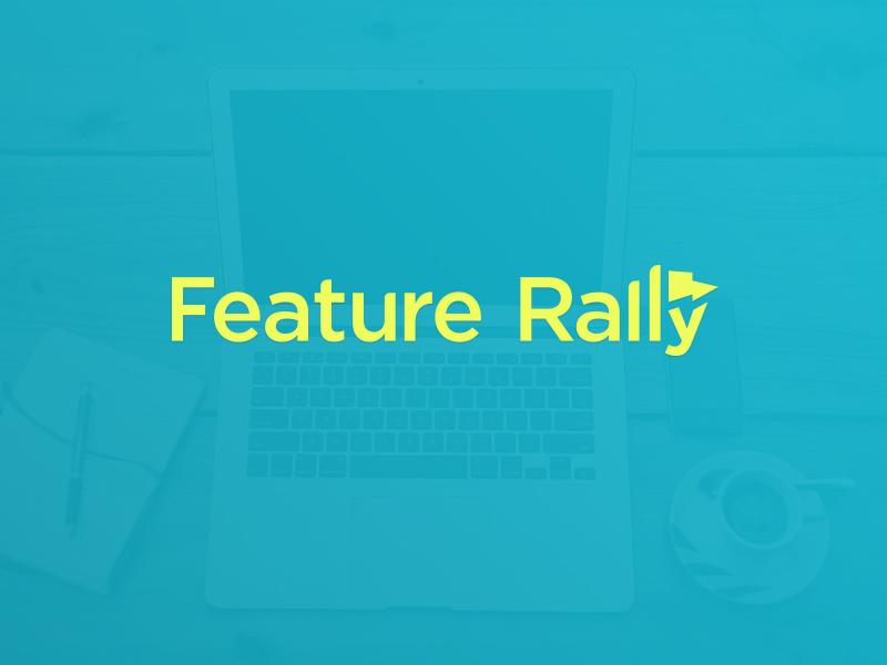 Feature rally logo custom logo design