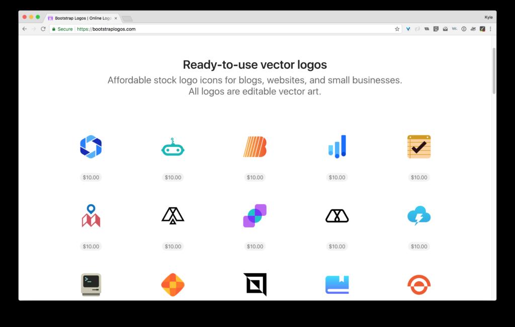 Online logo maker bootstrap logo store