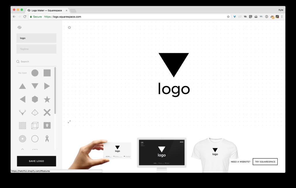 Squarespace online logo maker