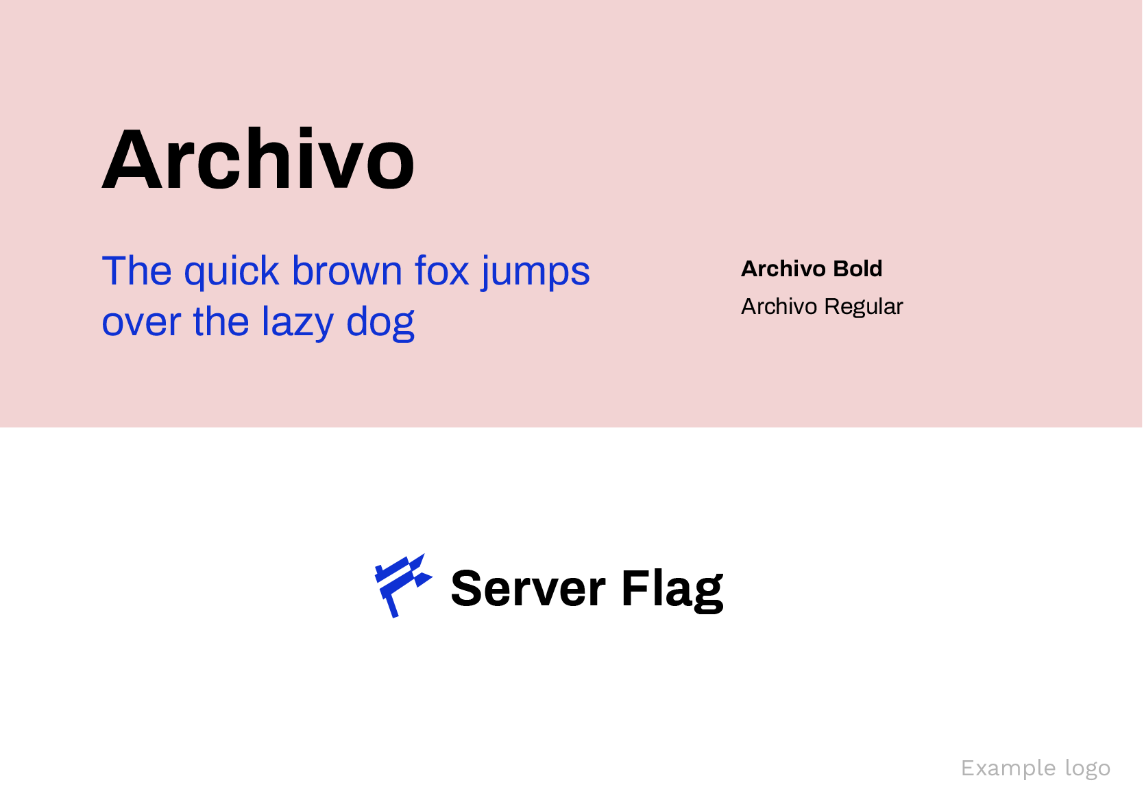 Archivo Google Fonts for logos