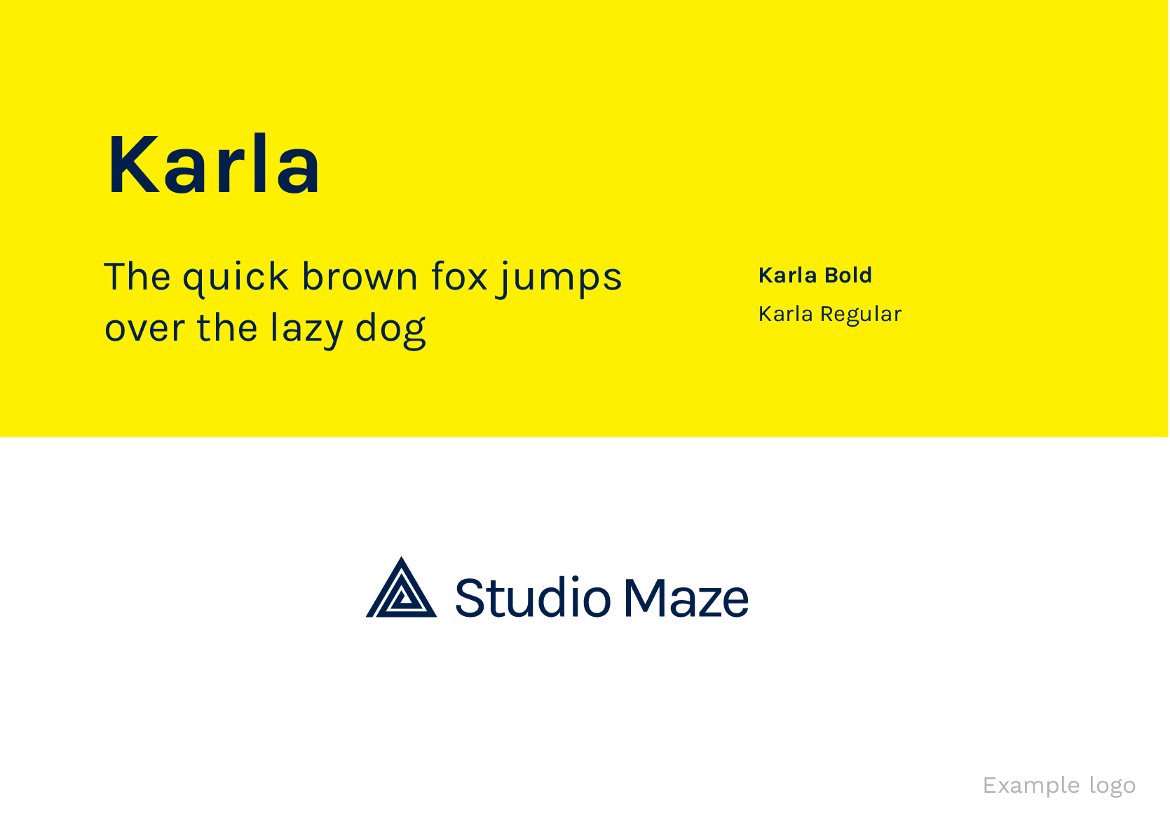 Karla Google Fonts for Logos