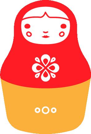 nesting doll logo, Bootstrap Logos