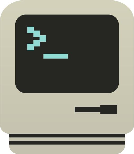 Vintage retro computer logo - Bootstrap Logos
