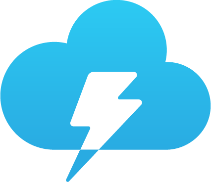 Lightning Cloud Chat Logo Download - Bootstrap Logos